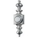 Broan Nu-Tone PB4LSN Lighted Dimensional Wired Pushbutton; 118 Inch Width x 4316 Inch Height, Surface Mount, Nickel, Satin
