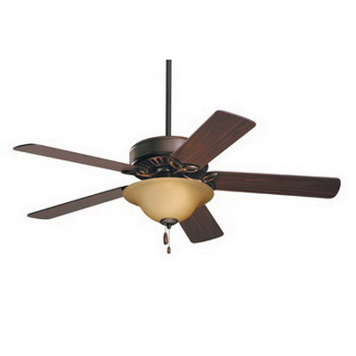 Emerson CF712ORB Pro Series Ceiling Fan With Light Kit; Wood, Amber Shade