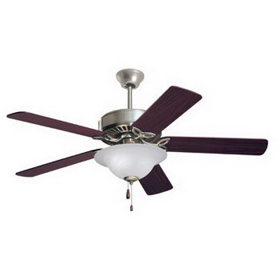 Emerson CF712BS Pro Series Ceiling Fan With Light Kit; Wood, Alabaster Glass Shade