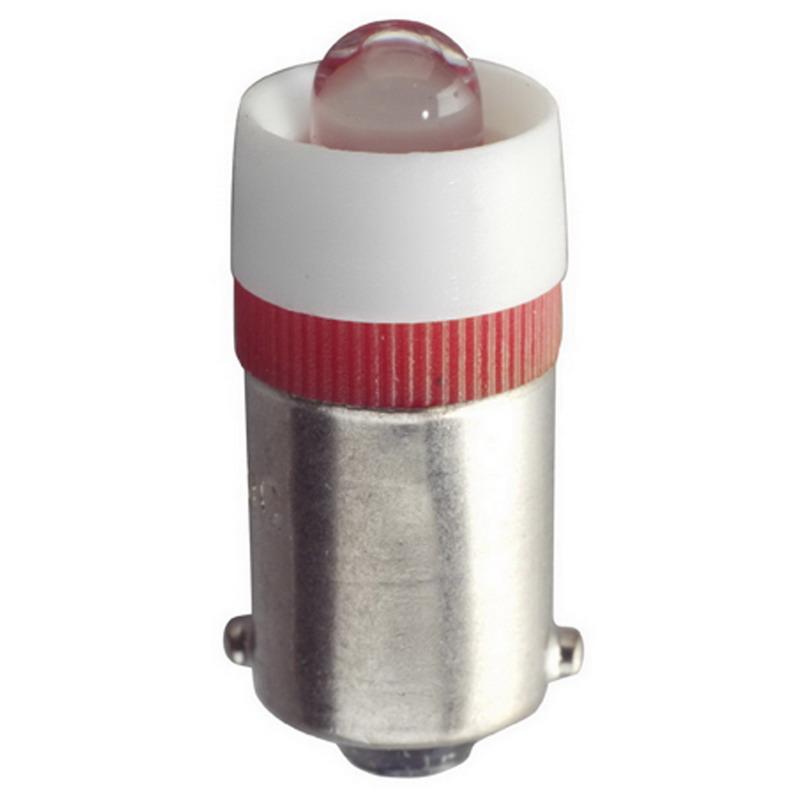 Eiko LED-6-BA9S-W Single T3-1/4 Miniature LED Lamp; 6 Volt AC/DC, Bayonet (BA9s) Base, 30,000 Hour Lifetime, White