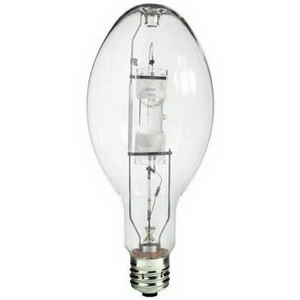 Eiko MH400/U ED37 Metal Halide Lamp; 400 Watt, 4000K, 70 CRI, Mogul Screw (E39) Base, 20000 Hour Life, Clear