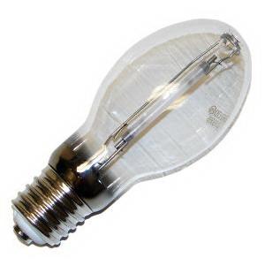Eiko LU150/55 ED23.5 High Pressure Sodium Lamp; 150 Watt, 55 Volt, 2100K, 21 CRI, Mogul Screw (E39) Base, 24000 Hour Life, Clear