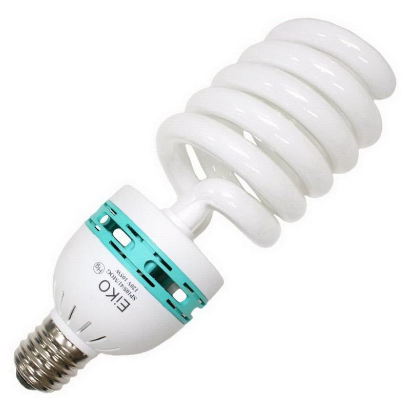 Eiko SP105/41/MOG Compact Fluorescent Lamp; 105 Watt, 120 Volt, 4100K, >80 CRI, Mogul Screw (E39) Base, 10000 Hour Life