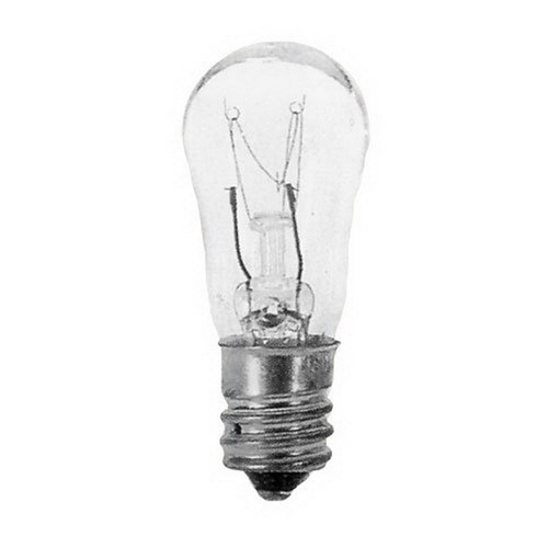 Eiko 6S6-130V S6 Incandescent Lamp; 6 Watt, 130 Volt, Candelabra Screw (E12) Base, 1500 Hour Life, Clear