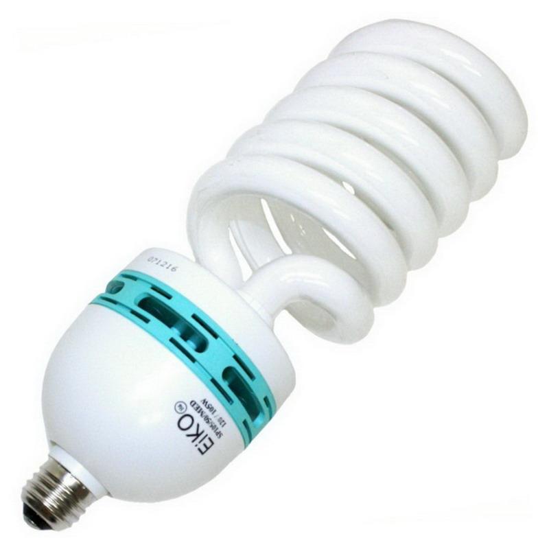 Eiko SP85/50/MED Spiral Compact Fluorescent Lamp; 85 Watt, 120 Volt, 5000K, >80 CRI, Medium Screw (E26) Base, 10000 Hour Life