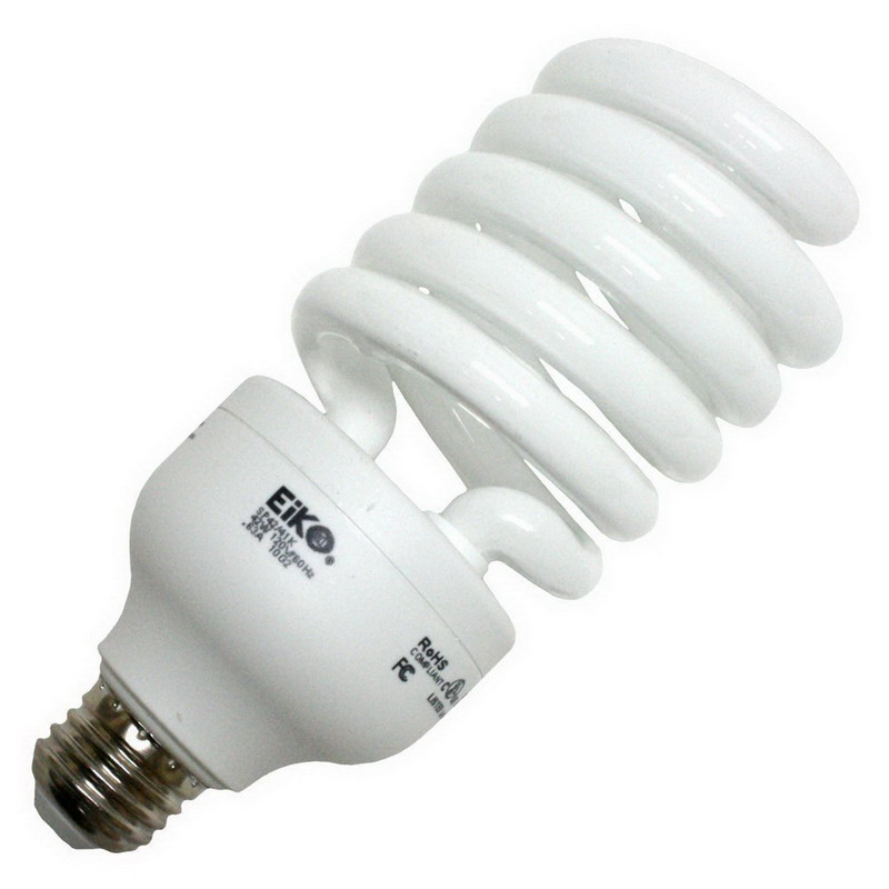 Eiko SP42/41K Spiral Compact Fluorescent Lamp; 40 Watt, 4100K, 80 CRI, Medium Screw (E26) Base, 10000 Hour Life