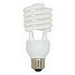 Eiko SP19/41K Spiral Compact Fluorescent Lamp; 18 Watt, 120 Volt, 4100K, 80 CRI, Medium Screw (E26) Base, 10000 Hour Life