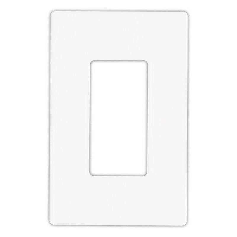 Cooper Wiring 9521WS Aspire™ 1-Gang Midsize Screwless Wallplate; Polycarbonate, White Satin