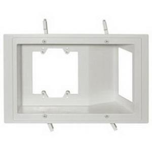 Carlon SC300PRB 3-Gang RDV Old Work Plate; 2.720 Inch Deep, Wall, Horizontal/Vertical Mount, Non-Metallic, White