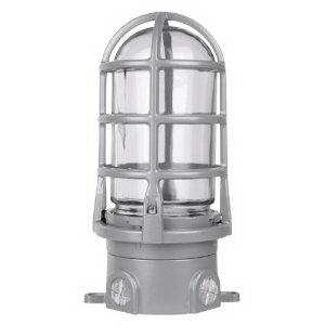 """""Red Dot VXG-12-C Vapor Tight Light Fixture With Guard and Globe 200 Watt, Powder-Coated,"""""" 72043"