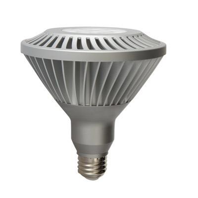 GE Lamps LED20DP38/FL/TP-120 Directional PAR38 Replacement LED Bulb; 20 Watt, 120 Volt, 2700K, Medium Screw (E26) Base, 25000 Hour Life, Silver