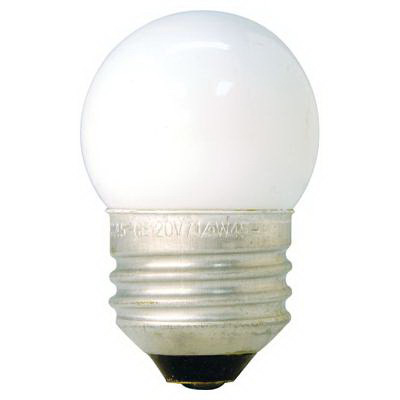 GE Lamps 7-1/2S/CW-TRAY-130 Quartzline® S11 Incandescent Lamp; 7.5 Watt, 130 Volt, Medium Screw (E26) Base, 1400 Hour Life