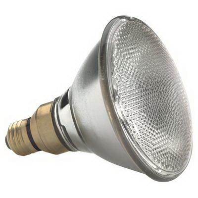 GE Lamps 50PAR/HIR/FL25-130 PAR38 Halogen Lamp; 50 Watt, 130 Volt, 2810K, Medium Skirt (E26/50x39) Base, 3000 Hour Life