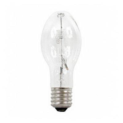 GE Lamps HR100A38 Quartzline® Elliptical ED23.5 Mercury Vapor Lamp; 100 Watt, 5700K, 15 CRI, Mogul Screw (E39) Base, 20000 Hour Life, Clear