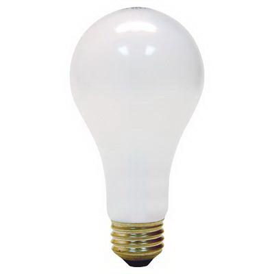 GE Lamps 200A/W-1-120 Quartzline® A-Line A21 Incandescent Lamp; 200 Watt, 120 Volt, 2900K, Medium Screw (E26) Base, 750 Hour Life, Soft White