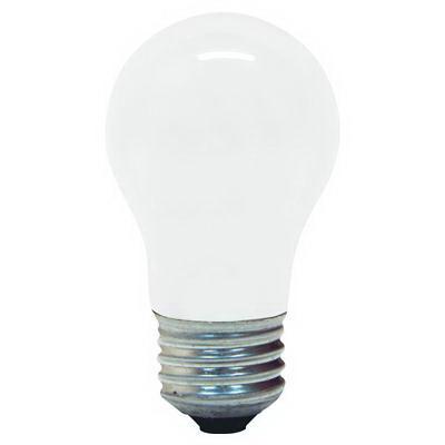 GE Lamps 15A15-130 Quartzline® A-Line A15 Incandescent Lamp; 15 Watt, 130 Volt, Medium Screw (E26) Base, 2500 Hour Life, Inside Frosted