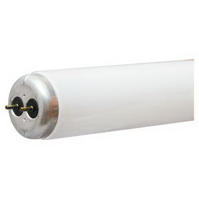 GE Lamps F15T12/CW- Ecolux® Straight T12 Linear Fluorescent Lamp; 15 Watt, 47 Volt, 4100K, 60 CRI, Medium Bi-Pin (G13) Base, 9000 Hour Life, White