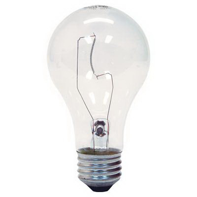 GE Lamps 25A/CL-120 A-Line A19 Incandescent Lamp; 25 Watt, 120 Volt, 2500K, Medium Screw (E26) Base, 2500 Hour Life, Clear