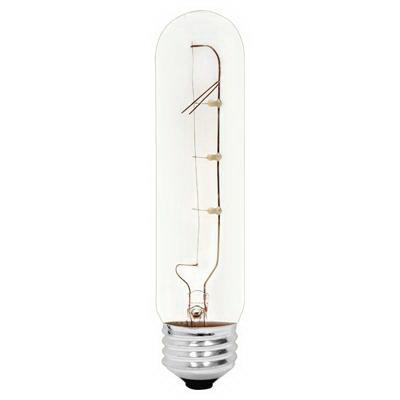 GE Lamps 25T10-120 Quartzline® Tubular T10 Incandescent Lamp; 25 Watt, 120 Volt, Medium Screw (E26) Base, 1000 Hour Life, Clear