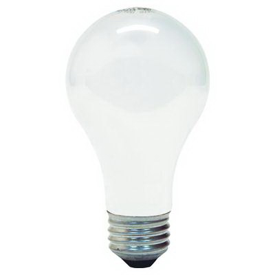 GE Lamps 40A-120 Quartzline® A-Line A19 Incandescent Lamp; 40 Watt, 120 Volt, 2700K, Medium Screw (E26) Base, 1000 Hour Life, Inside Frosted