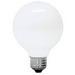 GE Lamps 40G25/W-120 Quartzline® Decorative Globe G25 Incandescent Lamp; 40 Watt, 120 Volt, 2500K, Medium Screw (E26) Base, 1500 Hour Life, White