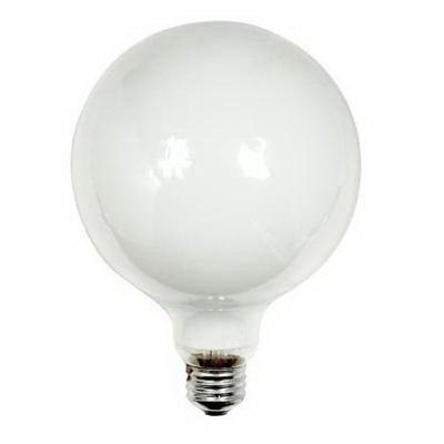 GE Lamps 60G40/W-120 Decorative Globe G40 Incandescent Lamp; 60 Watt, 120 Volt, 2600K, Medium Screw (E26) Base, 2500 Hour Life, White