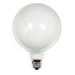 GE Lamps 100G40/W-120 Decorative Globe G40 Incandescent Lamp; 100 Watt, 120 Volt, 2700K, Medium Screw (E26) Base, 2500 Hour Life, White