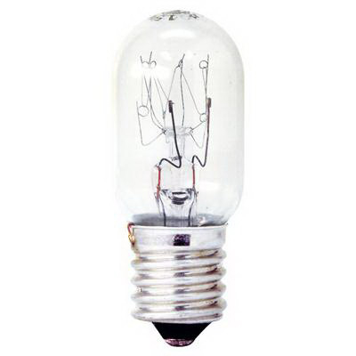GE Lamps 15T7N-CARD-120 Quartzline® Tubular T7 Incandescent Lamp; 15 Watt, 120 Volt, Intermediate Screw (E17) Base, Clear
