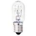 GE Lamps 15T7N-CARD-120 Quartzline® Tubular T7 Incandescent Lamp; 15 Watt, 120 Volt, Intermediate Screw (E17) Base, Clear