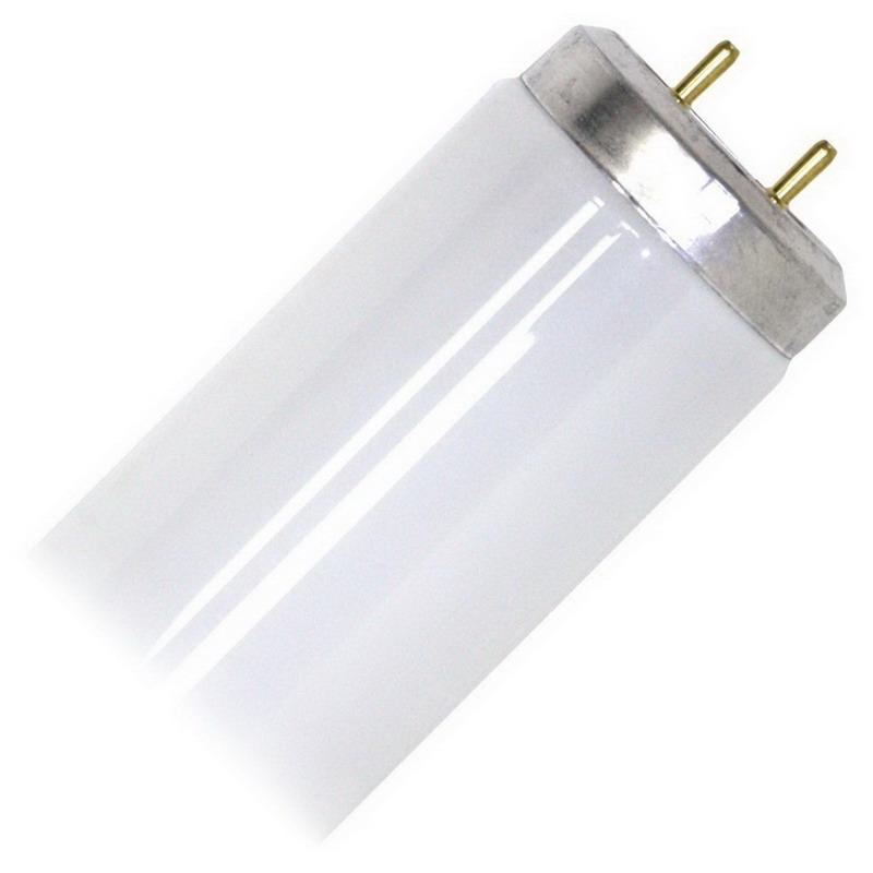 GE Lamps F20T12/CW/ECO Ecolux® Straight T12 Linear Fluorescent Lamp; 20 Watt, 57 Volt, 4100K, Medium Bi-Pin (G13) Base, 9000 Hour Life