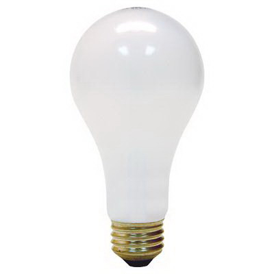 GE Lamps 100A/RS-5-120 Quartzline® A-Line A21 Incandescent Lamp; 100 Watt, 120 Volt, Medium Screw (E26) Base, 1000 Hour Life, Inside Frosted