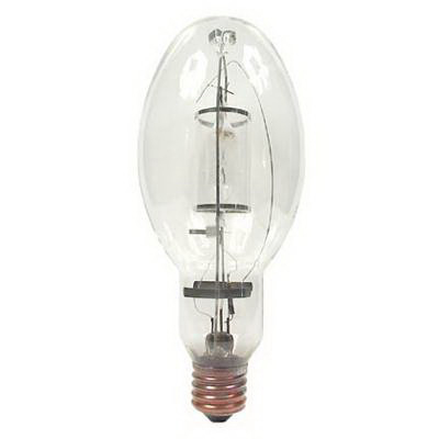 GE Lamps MPR400/VBU/HO/O Multi-Vapor® Protected Elliptical ED37 Quartz Metal Halide Lamp; 400 Watt, 3400K, 65 CRI, EX39 Base, 20000 Hour Life, Clear