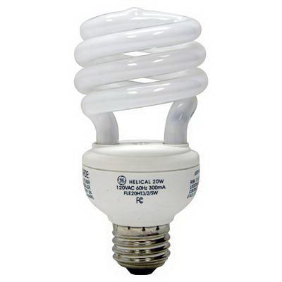 GE Lamps FLE23HT3/2/XL827 Soft White Spiral® Self-Ballasted Spiral T3 Compact Fluorescent Lamp; 23 Watt, 120 Volt, 2700K, Medium Screw (E26) Base, 12000 Hour Life