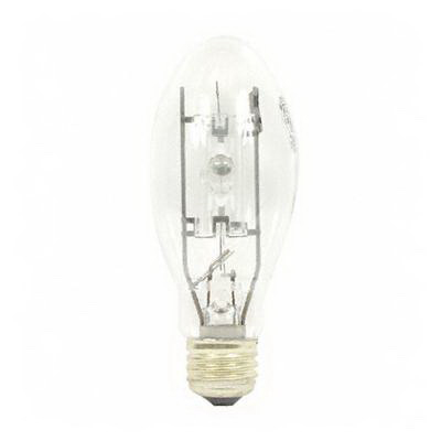 GE Lamps MVR175/U/MED Multi-Vapor® Elliptical BD17 Quartz Metal Halide Lamp; 175 Watt, 4000K, 65 CRI, Medium Screw (E26) Base, 10000 Hour Vertical, 6000 Hour Horizontal Life, Clear