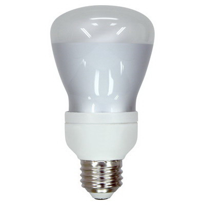 GE Lamps FLE11/2/R20XL827 Self-Ballasted R20 Compact Fluorescent Lamp; 11 Watt, 120 Volt, 2700K, 82 CRI, Medium Screw (E26) Base, 10000 Hour Life, Soft White