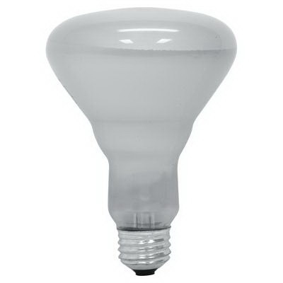 GE Lamps 65R30/FL/MI-120 Quartzline® BR30 Incandescent Reflector Lamp; 65 Watt, 120 Volt, 2600K, Medium Screw (E26) Base, 2000 Hour Life
