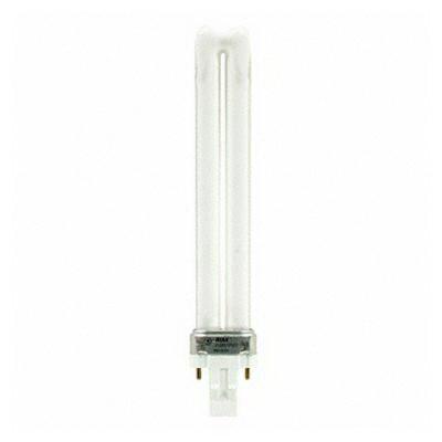 GE Lamps F13BX/830/ECO Ecolux® Plug-In T4 Compact Fluorescent Lamp; 13 Watt, 59 Volt, 3000K, 82 CRI, GX23 Base, 10000 Hour Life