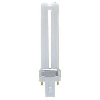 GE Lamps F7BX/835/ECO Ecolux® Plug-In T4 Compact Fluorescent Lamp; 7 Watt, 45 Volt, 3500K, 82 CRI, Bi-Pin (G-23) Base, 10000 Hour Life
