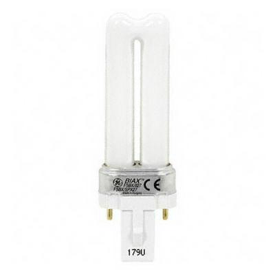 GE Lamps F5BX/841/ECO Ecolux® Biax® Plug-In Low Wattage T4 Compact Fluorescent Lamp; 5 Watt, 120 Volt, 4100K, 82 CRI, Bi-Pin (G-23) Base, 10000 Hour Life