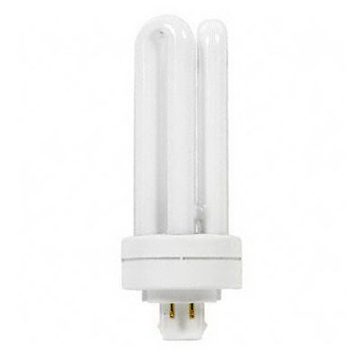 GE Lamps F18TBX/835/A/ECO Ecolux® Plug-In T4 Compact Fluorescent Lamp; 18 Watt, 120/100 Volt, 3500K, GX24q-2 Base, 17000 Hour Life
