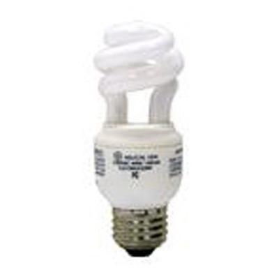 GE Lamps FLE10HT2/2/827 Spiral® Self-Ballasted Spiral T2 Compact Fluorescent Lamp; 10 Watt, 120 Volt, 2700K, 82 CRI, Medium Screw (E26) Base, 12000 Hour Life, Soft White