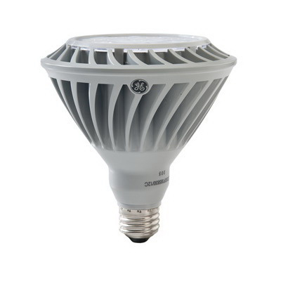 GE Lamps LED26DP38S-FL/TP Directional PAR38 Replacement LED Bulb; 26 Watt, 120 Volt, 4000K, Medium Screw (E26) Base, 50000 Hour Life, Silver