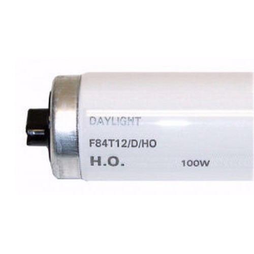 GE Lamps F84T12D/HO-1 Quartzline® Straight T12 Linear Fluorescent Lamp; 100 Watt, 135 Volt, 6500K, 75 CRI, Recessed Double Contact (R17d) Base, 12000 Hour Life, Daylight
