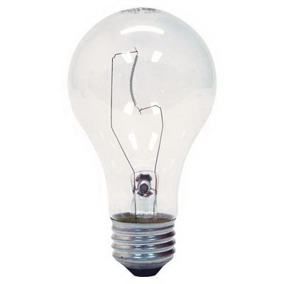 GE Lamps 25A/CL/-130V-130 A-Line A19 Incandescent Lamp; 25 Watt, 130 Volt, Medium Screw (E26) Base, 2500 Hour Life, Clear
