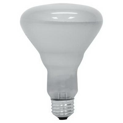 GE Lamps 65R30FL/COMM-120 Quartzline® BR30 Incandescent Reflector Lamp; 65 Watt, 120 Volt, 2600K, Medium Screw (E26) Base, 2000 Hour Life