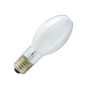 GE Lamps HR100DX38 Quartzline® Elliptical ED23.5 Mercury Vapor Lamp; 100 Watt, 3900K, 50 CRI, Mogul Screw (E39) Base, 20000 Hour Life, Deluxe White
