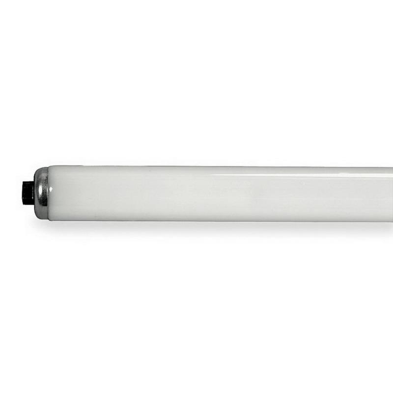 GE Lamps F60T12/D/HO-1 Quartzline® Straight T12 Linear Fluorescent Lamp; 75 Watt, 98 Volt, 6500K, 75 CRI, Recessed Double Contact (R17d) Base, 12000 Hour Life, Daylight