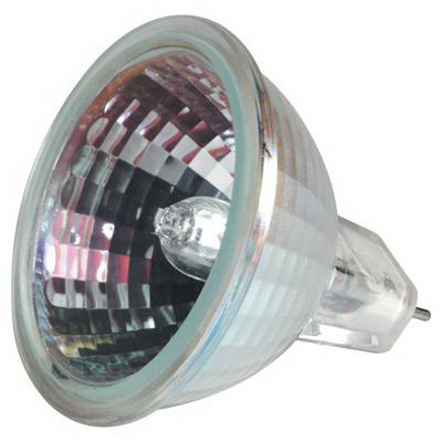 GE Lamps Q50MR16/C/WFL55-12 ConstantColor® Precise™ MR16 Halogen Lamp; 50 Watt, 12 Volt, 3050K, Bi-Pin (GX5.3) Base, 6000 Hour Life