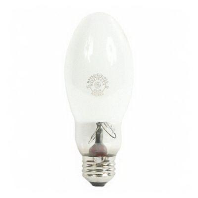GE Lamps MXR50/C/U/MED Multi-Vapor® PulseArc® Elliptical BD17 Quartz Metal Halide Lamp; 50 Watt, 3400K, 65 CRI, Medium Screw (E26) Base, 10000 Hour Life, Coated