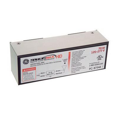 GE Lamps GEMH70-SLJ-MV 87546 UltraMax™ Electronic Low Frequency HID Ballast; 120 - 277 Volt, 77 Watt, 1-Lamp, Pulse Start
